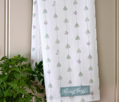 Hearts & Roses Tea Towels
