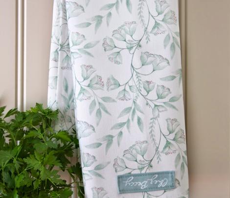 Wild Hellebore Tea Towels