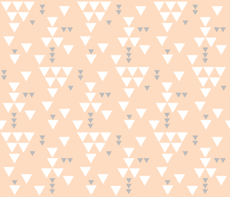 blush gray triangle fall fabric by ivieclothco on Spoonflower - custom fabric