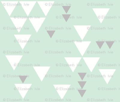 mint gray triangle fall