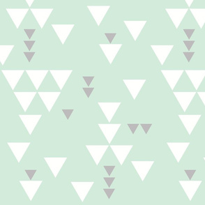 mint gray triangle fall