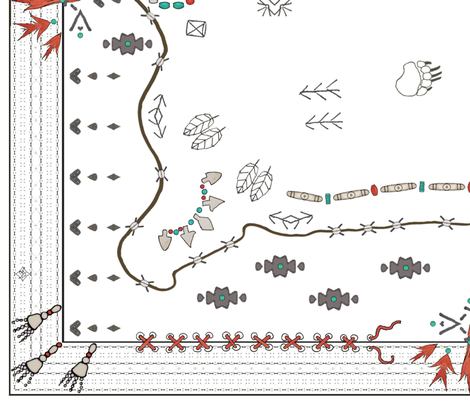 Buffalo_Robe_white_horizontal fabric by adranre on Spoonflower - custom fabric