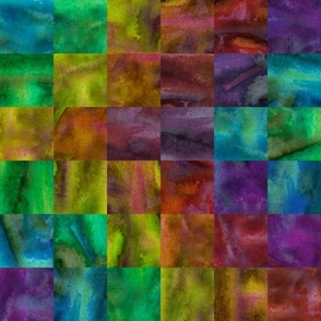 Rainbow Check from Hand-Painted Texture