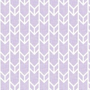 double chevron lilac linen