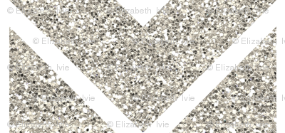 silver sparkle chevron