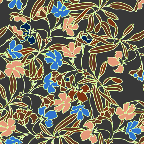 Garden Floral Essence fabric by joanmclemore on Spoonflower - custom fabric