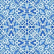 Scandinavian Lattice in cobalt blue