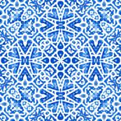 Scandinavian Lattice in cobalt blue