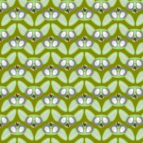 Zombie Sphynx Chevron Olive Background