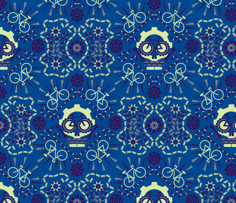 Dia De Los Racing Bicicletas fabric by leighr on Spoonflower - custom fabric
