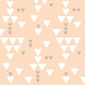 blush silver triangle fall // small