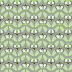 Zombie Sphynx Chevron Grey Background