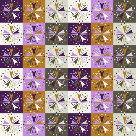 Circus Squares - Winter Crocus fabric by siya on Spoonflower - custom fabric