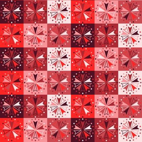 Circus Squares - Reds
