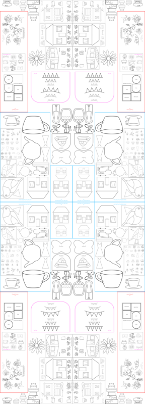 The Sewing Bee & Afternoon Tea Paper Pattern Collection fabric - de ...