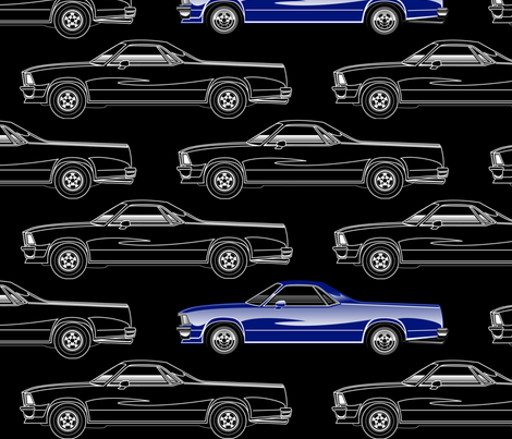 El Camino Royal Blue fabric by flames_artworks on Spoonflower - custom fabric