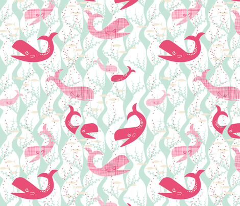 Whale Play fabric by lynnbishopdesign on Spoonflower - custom fabric