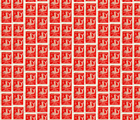 Red Stamp fabric by bananana on Spoonflower - custom fabric