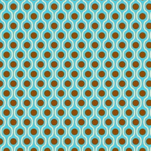waves and dots blue-brown small