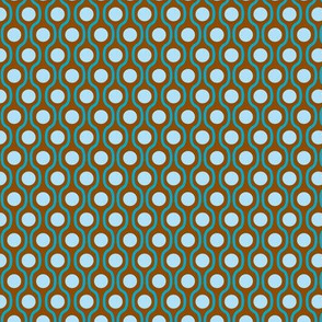 waves and dots brown-blue-small