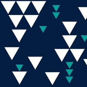 navy emerald triangle fall