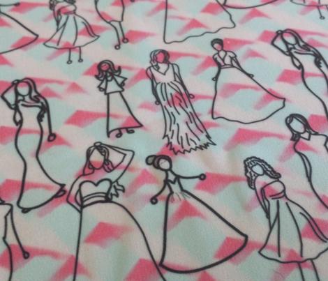 Dresses on Red Aqua Cream