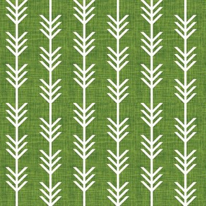 moss linen arrow stripes