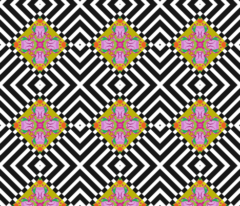 Yipes Stripes and Diamonds fabric by susaninparis on Spoonflower - custom fabric
