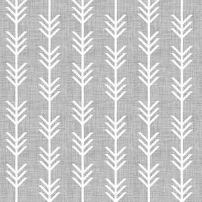 gray linen arrow stripes