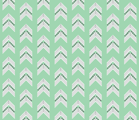 seafoam charcoal chevron fabric by ivieclothco on Spoonflower - custom fabric