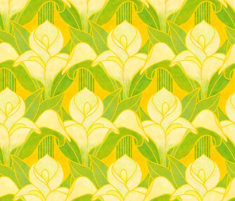 Long-stem Calla Lilies fabric by elramsay on Spoonflower - custom fabric
