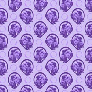 Collared Irish Terrier portraits - purple
