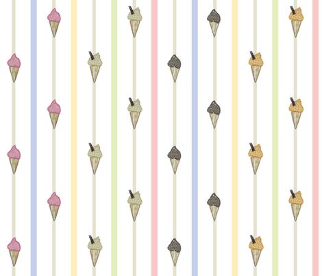 Icecream_stripe fabric by peppermintpatty on Spoonflower - custom fabric