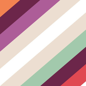 Retro Modern Stripes by Friztin