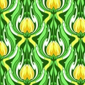 Electric Tulip Yellow and White