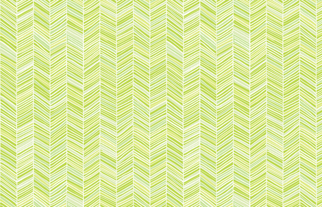 Herringbone Hues of Green - Small scale by Friztin fabric by friztin on Spoonflower - custom fabric