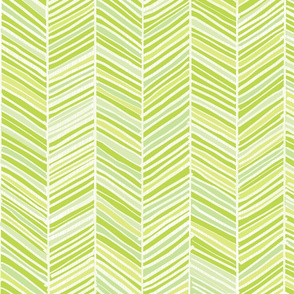Herringbone Hues of Green - Small scale by Friztin