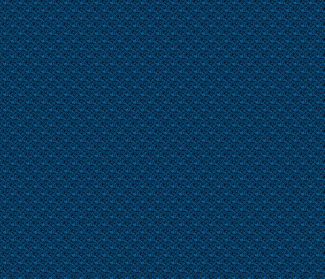 "Seal of Rassilon blue on black 1"" fabric by risarocksit on Spoonflower - custom fabric"