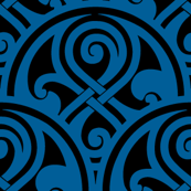 Seal of Rassilon blue on black 1""
