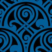 "Seal of Rassilon blue on black 1"""