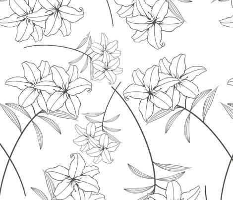 lilly fabric by nicim on Spoonflower - custom fabric