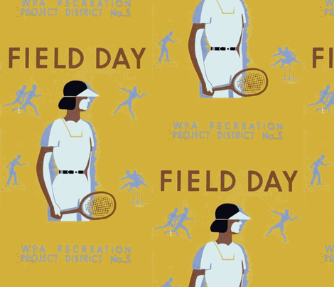 Field Day Poster fabric by bananana on Spoonflower - custom fabric