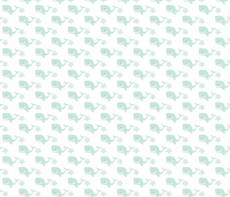 mini_whale_repeat_rpt_ fabric by doris&fred on Spoonflower - custom fabric