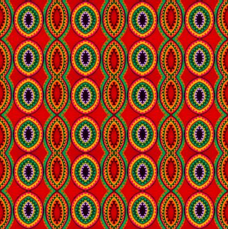 Mandala Red fabric by loriwierdesigns on Spoonflower - custom fabric