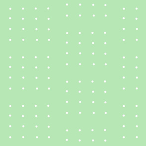 Lt. Green with White Dot in 1/2 drop, 16 dots