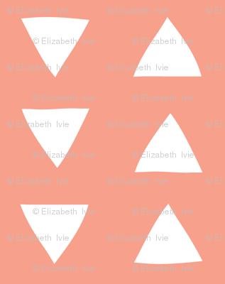 hand drawn triangles in geranium // small