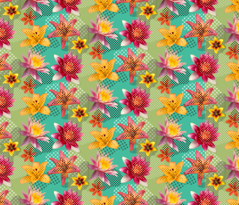 lily fest fabric by darcibeth on Spoonflower - custom fabric