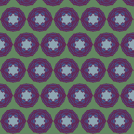 cabbagerosepurple fabric by especiallycreativebroad on Spoonflower - custom fabric