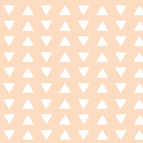 hand drawn triangles in blush