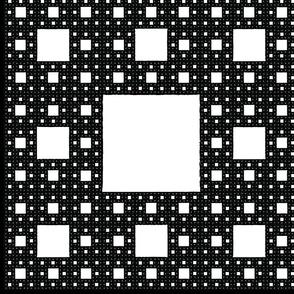 Sierpinski Carpet pillow panel